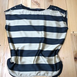 The Limited black and gold striped blouse medium